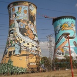 Orlando Towers, Soweto. Golden City Flight Tour